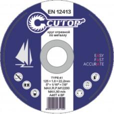 Круг отрезной по металлу и нерж. стали CUTOP T41 - 115х1,2х22,2 мм (10/100/400шт)