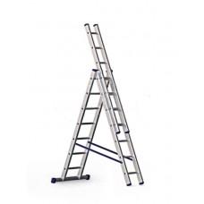 Лестница 3х7ст L-200/295/420 10,3кг алюминий LWI