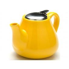 23056-2 Заварочный чайник ЖЕЛТЫЙ 950мл керам LR (х24)