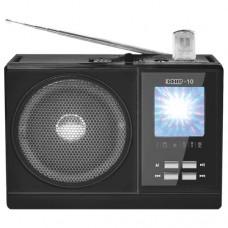 Радиоприемник  Эфир-10 , FM 64-108МГц, бат. 2*R20, акб 900mA/h, USB/SD/microSD, светод.фон., дискосв