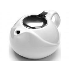 23057-4 Заварочный чайник керамика 750мл БЕЛЫЙ LR (х24)