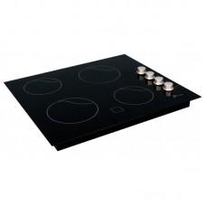 ПЭВ 40 С ЛЫСЬВА (панель 4-х конфорочная, стеклокерамика) (черная/серебро)