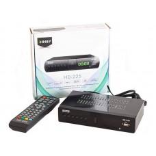 Ресивер эфирный цифровой DVB-T2/C HD HD-225 метал, дисплей DOLBY DIGITAL, Эфир