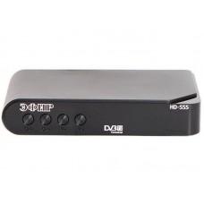 Ресивер эфирный цифровой DVB-T2 HD HD-555 пластик, дисплей, Эфир