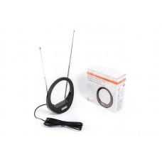 Антенна комнатная DVB-T2 и ДМВ+МВ активная Сигнал SAI 613 усы 1м кабель 3м