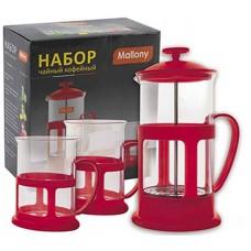 Набор Чайный/кофейный (кофе-пресс и 2 чашки), серия Variato-set, 600 мл/200 мл, цвета в ассортименте MALLONY