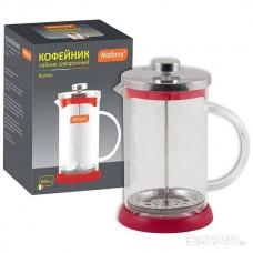 Чайник/кофейник (кофе-пресс) стеклянный, 800 мл, серия Rubino, цвет - красный MALLONY