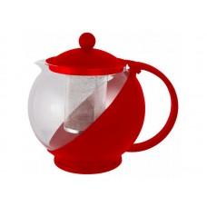 Чайник заварочный Variato, литраж - 1,2 л (стекло, пластик корпус, металл.ситечко), цвета в ассорт. MALLONY