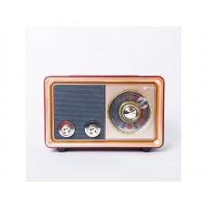 Радиоприемник  БЗРП РП-324 , УКВ 64-108МГц, бат. 2*R20, 220V, USB/microSD/AUX, лупа