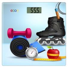 Весы напольные электронные стеклянные econ ECO-BS012