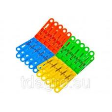 Прищепки пластмассовые 20шт в наборе (12/300шт/уп)
