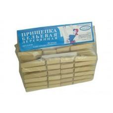 Прищепка деревянная 36шт на картонке в упаковке (1шт/уп)