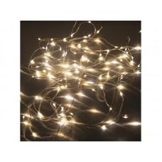 Гирлянда светод.  Нить , SE-STRING-10100WW, 10м, 100 LED, теплый белый, серебр. шнур 1,5м, Funray