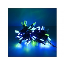 Гирлянда светод.  Лучики , SE-BEAM-110M, 10М, 100LED, мульти (4цв.),темно-зел.шн.0,7м,контр., Funray