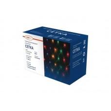 Гирлянда светодиодная «Cетка» ML-320W, 3*2м, 320 LED, хол.белый, IP20, прозрачный шнур 1.5м