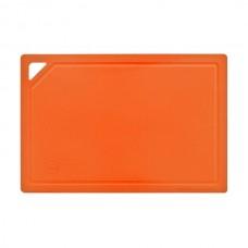 арт.  ДРГ-3022 Доска разделочная прямоугольная  средняя 310*210 мм (полиуретан) (оранж.)