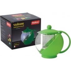 Чайник заварочный Variato, литраж - 750 мл (стекло, пластик корпус, пласт.фильтр), цвета в ассорт.