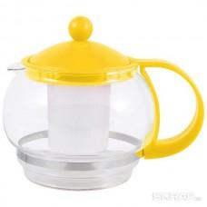 Чайник заварочный, VARIATO, объем: 880 мл, пластик корпус, пласт фильтр, цвета в ассорт