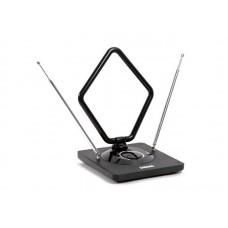 Антенна комнатная DVB-T2 и ДМВ+МВ активная Сигнал SAI 975 усы 1м кабель 3м, с рег.