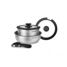 Набор посуды 5 предм. (кастрюля с/кр 20 см, сотейник с/кр 24*6,5 см, съемная ручка) Stark Rondell RDS-934 (ST)