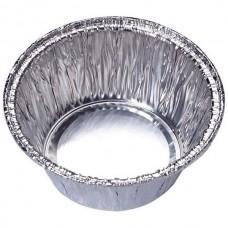 Форма для выпечки одноразовая из алюм фольги Lamina, круглая, 7,8*7,8*3,7 см_упаковка 50 шт