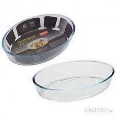 Форма для запекания из боросил стекла 2,4 л, овальной формы без ручек, серия Cristallino, тм Mallony