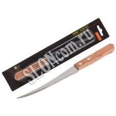 Нож с деревянной рукояткой ALBERO MAL-04AL филейный, длина 13 см, т.м. Mallony