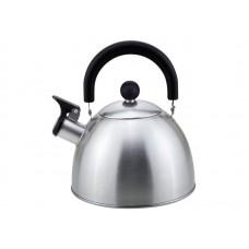 Чайник из нерж. стали MAL-039-MP, 2,5 литра, матовый, со свистком
