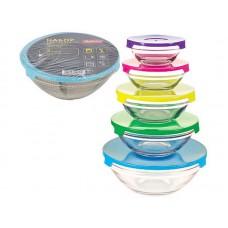 Набор из 5 стеклянных мисок с крышками INSALATO (150/210/360/510/920мл)
