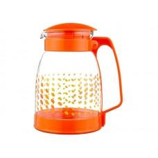 Кувшин BROCCA-1800, объем: 1,8 л, из жаропрочного стекла, с пластик ручкой, оранж дизайн