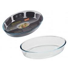 Форма для запекания CRISTALLINO, объем 3 л, из боросиликатного стекла, овальной формы, без ручек
