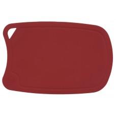 арт.  ДРГ-3221 Доска разделочная овальная средняя 310*210 мм(полиуретан) (бордо)