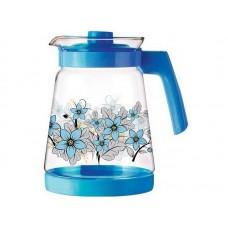 Кувшин, PENTOLA-2500, объем: 2,5 л, из жаропрочного стекла, с пластик ручкой, синий