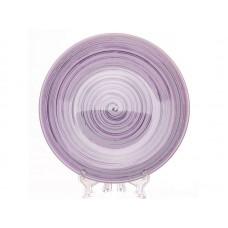 Тарелка плоская 22 см.,лаванда