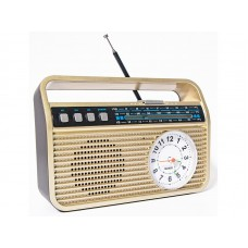 Радиоприемник  БЗРП РП-332 , УКВ 87-108МГц,акб 1200mA/h,USB/microSD/AUX/BT,механич.часы,6мм шайба