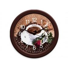 Часы настенные кварцевые ENERGY модель ЕС-101 кофе