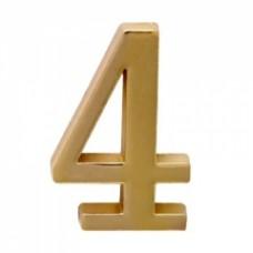 Цифра дверная АЛЛЮР  4  на клеевой основе золото