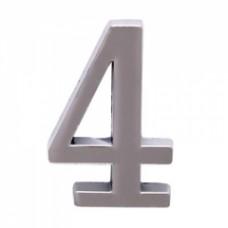 Цифра дверная АЛЛЮР  4  на клеевой основе хром