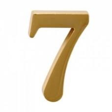 Цифра дверная АЛЛЮР  7  на клеевой основе золото