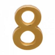 Цифра дверная АЛЛЮР  8  на клеевой основе золото