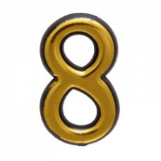 Цифра дверная АЛЛЮР пластик  8  золото