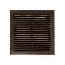 Решетка вент 200*200 рамка люкс Темно-коричневая