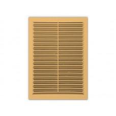 Решетка вент 206*300 рамка люкс Светло-коричневая