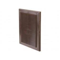 Решетка вент 206*300 рамка люкс Темно-коричневая