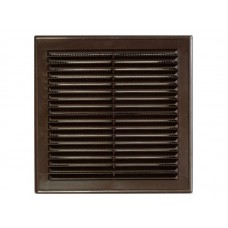 Решетка вент 210*210 рамка люкс Темно-коричневая