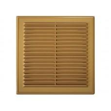 Решетка вент 194*194 сетка люкс Светло-коричневая