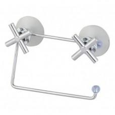 Держатель для туалетной бумаги CROSS-CH-03 15*15*5,5см металл хромированный, ПВХ, пластмасса (20)