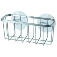 Корзинка д/ванной комнаты РЫЖИЙ КОТ хром.металл 14*5,3*6,3см COZY-B-1