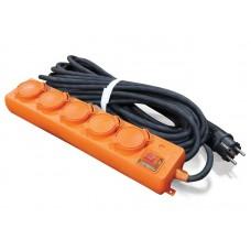 Удлинитель У10-026 IP-44 КГ 3*1,5 5гн. з/к, выключатель с индикацией 20м  UNIVersal
