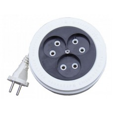 Удлинитель рулетка У6-004 ШВВП 2*0,75 3гн. 5м (еврослот) (К1506)  UNIVersal